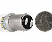 1142 LED Bulb w/ Stock Cover - 12 SMD LED - BA15D Retrofit: Back View