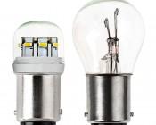 1142 LED Bulb w/ Stock Cover - 12 SMD LED - BA15D Retrofit: Profile View