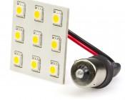 White 9HP-LED 1156 PCB Lamp