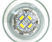 1157 LED Bulb w/ Stock Cover - Dual Function 36 SMD LED Tower - BAY15D Retrofit: Front View