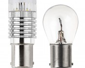 1156 LED Bulb - 1 High Power LED w/ Reflector Lens - BA15S Retrofit: Profile View