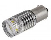 1156 LED Bulb - 1 High Power LED w/ Reflector Lens - BA15S Retrofit