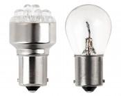 1156 LED Bulb - 12 LED Forward Firing Cluster - BA15S Retrofit: Profile Comparison View