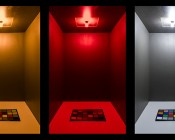3156 LED Bulb - 27 SMD LED Tower - Wedge Retrofit: Shown On In Red, Amber, And Cool White.