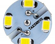 1157 LED Bulb - Dual Function 28 SMD LED Tower - BAY15D Retrofit: Front View