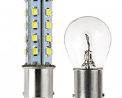1156 LED Bulb - 28 SMD LED - BA15S Retrofit: Profile View