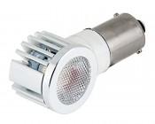 1156 LED Bulb w/ Adjustable Right Angle - 1 High Power LED - BA15S Retrofit