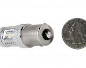 1156 LED Bulb w/ Focusing Lens - 15 SMD LED Tower - BA15S Retrofit: Back View