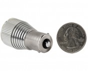 1156 LED Bulb w/ Removable Lens - 3 High Power LED - BA15S Retrofit: Back View