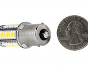 1156 LED Bulb - 18 SMD LED Tower - BA15S Retrofit: Back View