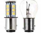 1157 LED Bulb - Dual Function 18 SMD LED Tower - BAY15D Retrofit: Profile View
