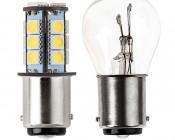 1142 LED Bulb - 18 SMD LED Tower - BA15D Retrofit: Profile View