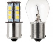 1156 LED Bulb - 18 SMD LED Tower- BA15S Retrofit: Profile View