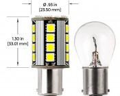 1156 CAN Bus LED Bulb - 26 SMD LED Tower - BA15S Retrofit: Profile View