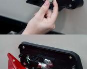 1156 LED Bulb w/ Stock Cover - 36 SMD LED Tower - BA15S Retrofit: 1156 Red LED Bulb Being Installed On RV Break Light
