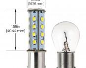 1156 LED Bulb - 28 SMD LED - BA15S RetrofitL Profile View