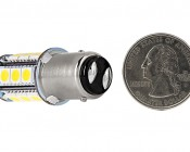 1157 LED Bulb - Dual Function 18 SMD LED Tower - BAY15D Retrofit: Back View