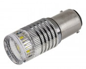1157 LED Bulb w/ Reflector Lens - Dual Function 1 High Power LED - BAY15D Retrofit
