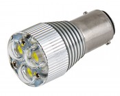 1157 LED Bulb w/ Removable Lens - Dual Function 3 High Power LED - BAY15D Retrofit