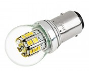 1157 LED Bulb w/ Stock Cover - Dual Function 36 SMD LED Tower - BAY15D Retrofit