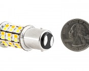 1157 Switchback LED Bulb - Dual Intensity 60 SMD LED Tower: Back View With Size Comparison