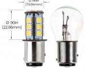 1157 LED Bulb - Dual Function 18 SMD LED Tower - BAY15D Retrofit