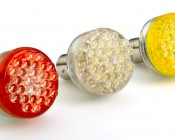 1157 LED Bulb - Dual Function 30 LED Forward Firing Cluster - BAY15D Retrofit: Red, Cool White, Amber