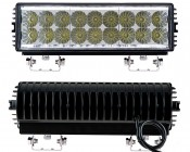 """12"""" Heavy Duty Off Road  LED Light Bar - 54W: Front & Back View"""