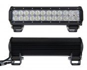 """12"""" Heavy Duty Off Road LED Light Bar - 72W: Front & Back View"""