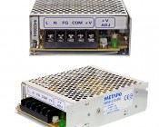 Mean Well AC to 12VDC Switching Enclosed Power Supply, UL, TUV, and CE Certified- 42 Watts