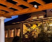30 Watt Knuckle-Mount LED Spotlight - Bullet Style - 2,900 Lumens: Light Installed in Pavilion