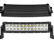 """14"""" Curved Off Road LED Light Bar - 72W: Front & Top View"""