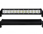 "14"" Compact Off Road LED Light Bar - 36W: Front & Back Views"
