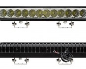 "14.5"" Heavy Duty Off Road LED Light Bar - 36W: Front & Back View"