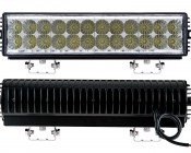 "14.5"" Heavy Duty Off Road  LED Light Bar - 72W: Front & Back View"