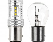 1157 LED Bulb - Dual Function 15 SMD LED Tower - BAY15D Retrofit: Profile View