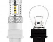 3157 LED Bulb w/ Focusing Lens - Dual Function 15 SMD LED Tower - Wedge Retrofit