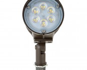 15 Watt Knuckle-Mount LED Flood Light - Bullet Style: Front View