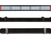 Adjustable Mounting Brackets for 150W Linear High Bay LED Light: Installed on Linear High Bay Light