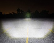 """30"""" Off Road LED Light Bar - 150W: Driver's Perspective Of Beam Angle Aimed At Treeline 100 Feet Away"""