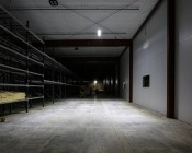 Suspension Cables for 150W Linear High Bay LED Light: Shown Suspending High Bay Light From 25' Warehouse Ceiling.