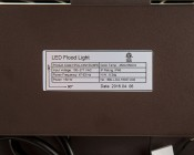 150W LED Area Light - Natural White - 20,000 Lumens: Label View