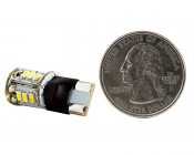 921 LED Bulb - 15 SMD LED Tower - Miniature Wedge Retrofit: Back View with Size Comparison