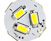 921 LED Bulb - 15 SMD LED Tower - Miniature Wedge Retrofit: Front View