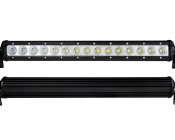 """17"""" Compact Off Road LED Light Bar - 45W: Front & Back Views"""