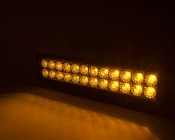 """18"""" Dual Row Heavy Duty Off Road Amber LED Light Bar - 45W: On Showing Beam Pattern"""