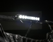 """18"""" Off Road LED Light Bar with Integrated Amber LED Strobe Light Head: Shown On And Installed On UTV."""