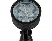 18W Color Changing RGB LED Landscape Spotlight w/ Remote: Front View