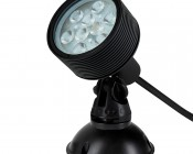 18W Color Changing RGB LED Landscape Spotlight w/ Remote: Shown with Mounting Base (sold separately)