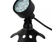 18W Color Changing RGB LED Landscape Spotlight w/ Remote: Shown with Weighted Base (sold separately)